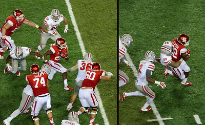 Jackson running the ball again.  (Our running game was spectacular for the first time.)