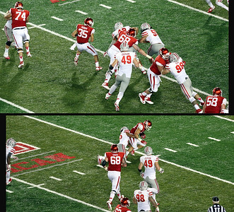 This time, Farrow finds a hole and gains yards.