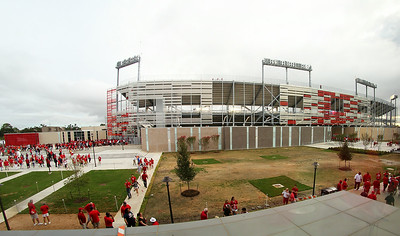 First look at the new TDECU Stadium from the parking garage.