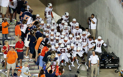 The University of Texas at San Antonio football team prepares to take the field.