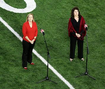 Soprano Cynthia Clayton and mezzo-soprano Melanie Sonnenberg.