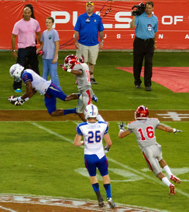 Was this a legitimate Tulsa reception?  Yes, the referee said his knee came down inbounds.