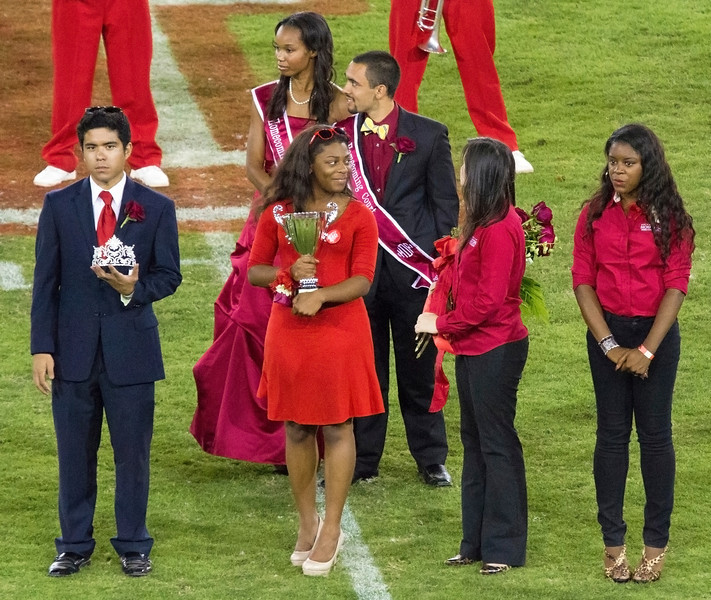 Part of the Homecoming Court