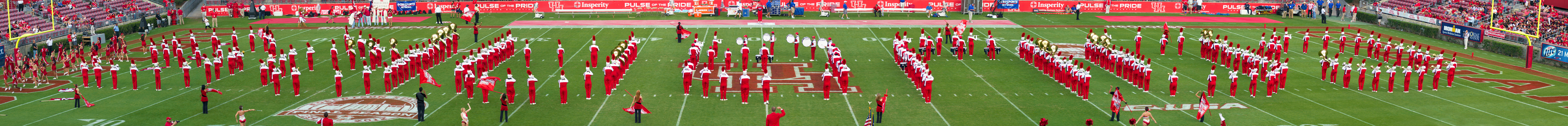 Panorama of the UH band before the game