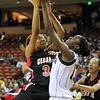 2010 Girls Basketball Tournament 5A Semifinal Game 1 - Houston Cypress Fairbanks (white) vs. Cedar Hill (black). Houston Cypress Fairbanks won 54-50.