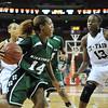 2010 Girls Basketball Tournament 5A Championship Game - Houston Cypress Fairbanks (white) vs. Fort Bend Hightower (green).  Houston Cypress Fairbanks won 65-41.