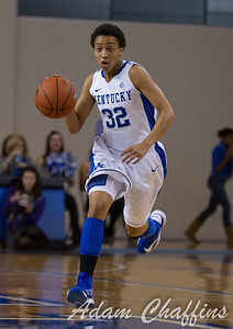 Junior guard, Kastine Evans, during the first half of the UK vs. High Point basketball game at Memorial Coliseum on Saturday, Nov. 17, 2012. Photo by Adam Chaffins   Staff