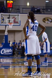 Senior forward, Brittany Henderson, during the second half of the UK vs. High Point basketball game at Memorial Coliseum on Saturday, Nov. 17, 2012. Photo by Adam Chaffins | Staff