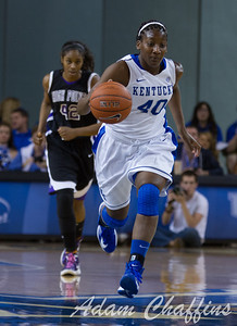 Senior forward, Brittany Henderson, during the first half of the UK vs. High Point basketball game at Memorial Coliseum on Saturday, Nov. 17, 2012. Photo by Adam Chaffins   Staff