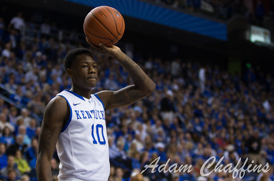 Freshman guard, Archie Goodwin, throwing in the ball during the second half of the UK vs. Lafayette basketball game at Rupp Arena  on Friday, Nov. 16, 2012. Photo by Adam Chaffins | Staff