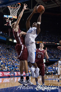Freshman forward, Alex Poythress, dunking the ball during the first half of the UK vs. Lafayette basketball game at Rupp Arena  on Friday, Nov. 16, 2012. Photo by Adam Chaffins | Staff