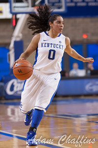 UK sophomore point guard Jennifer O'Neill during the second half of the UK vs. Marist basketball game at Memorial Coliseum on Sunday, Dec. 30, 2012. Photo by Adam Chaffins | Staff