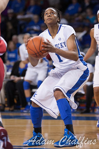 UK senior guard A'dia Mathies during the second half of the UK vs. Marist basketball game at Memorial Coliseum on Sunday, Dec. 30, 2012. Photo by Adam Chaffins | Staff
