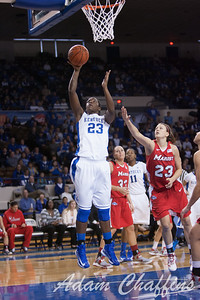 UK junior forward Samarie Walker scoring two points during the first half of the UK vs. Marist basketball game at Memorial Coliseum on Sunday, Dec. 30, 2012. Photo by Adam Chaffins | Staff