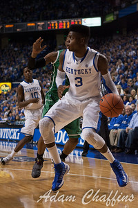 UK freshman forward Nerlens Noel during the first half of the UK vs. Marshall basketball game at Rupp Arena on Saturday Dec. 22, 2012. Photo by Adam Chaffins | Staff