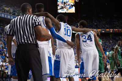 UK players after a play during the second half of the UK vs. Marshall basketball game at Rupp Arena on Saturday Dec. 22, 2012. Photo by Adam Chaffins | Staff