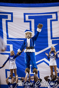 The santa wildcat during the second half of the UK vs. Marshall basketball game at Rupp Arena on Saturday Dec. 22, 2012. Photo by Adam Chaffins | Staff