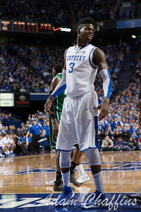 UK freshman forward Nerlens Noel after a foul during the second half of the UK vs. Marshall basketball game at Rupp Arena on Saturday Dec. 22, 2012. Photo by Adam Chaffins | Staff