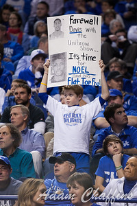 A fan during the second half of the UK vs. Marshall basketball game at Rupp Arena on Saturday Dec. 22, 2012. Photo by Adam Chaffins | Staff