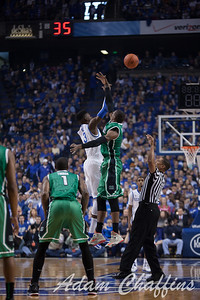 UK freshman forward Nerlens Noel at the tipoff of the UK vs. Marshall basketball game at Rupp Arena on Saturday Dec. 22, 2012. Photo by Adam Chaffins | Staff
