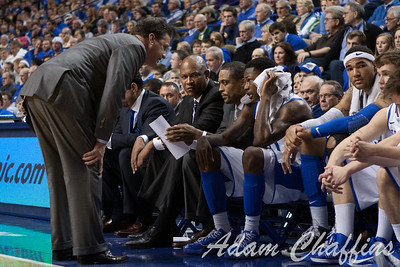 UK head men's basketball coach John Calipari coaching freshman guard Archie Goodwin during the second half of the UK vs. Tennessee basketball game at Rupp Arena on Tuesday, Jan. 15, 2013. Photo by Adam Chaffins | Staff