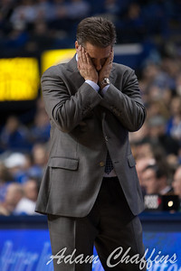 UK men's head basketball coach John Calipari after a dissapointing call during the second half of the UK vs. Tennessee basketball game at Rupp Arena on Tuesday, Jan. 15, 2013. Photo by Adam Chaffins | Staff