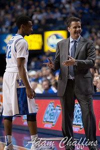 UK sophomore guard Ryan Harrow and UK men's head basketball coach John Calipari during the second half of the UK vs. Tennessee basketball game at Rupp Arena on Tuesday, Jan. 15, 2013. Photo by Adam Chaffins | Staff