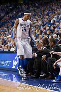 UK freshman forward Willie Cauley-Stein during the second half of the UK vs. Tennessee basketball game at Rupp Arena on Tuesday, Jan. 15, 2013. Photo by Adam Chaffins | Staff