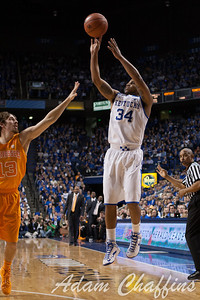 UK senior guard Julius Mays during the second half of the UK vs. Tennessee basketball game at Rupp Arena on Tuesday, Jan. 15, 2013. Photo by Adam Chaffins | Staff