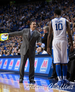 UK men's basketball head coach John Calipari and freshman guard Archie Goodwin during the second half of the UK vs. Tennessee basketball game at Rupp Arena on Tuesday, Jan. 15, 2013. Photo by Adam Chaffins | Staff