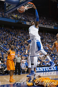 UK freshman forward Nerlens Noel during the second half of the UK vs. Tennessee basketball game at Rupp Arena on Tuesday, Jan. 15, 2013. Photo by Adam Chaffins | Staff