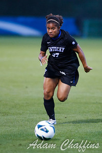 Senior Forward Kirsten Robinson, during the first half of the University of Kentucky vs. Texas A&M Women's soccer game. Photo by: Adam Chaffins