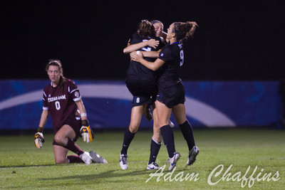 Freshman Forward  Kelli Hubly, celebrating with teammates after scoring yet another goal during the second half of the University of Kentucky vs. Texas A&M Women's soccer game. Photo by: Adam Chaffins