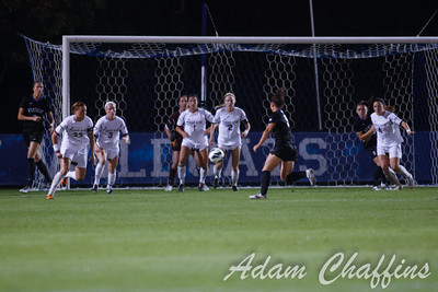 Junior Forward Caitlin Landis heading toward the goal, during the first half of the University of Kentucky vs. Texas A&M Women's soccer game. Photo by: Adam Chaffins