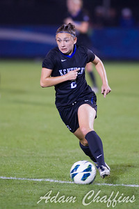 Freshman Midfielder Courtney Raetzman racing down the field during the final seconds the second half of the University of Kentucky vs. Texas A&M Women's soccer game. Photo by: Adam Chaffins