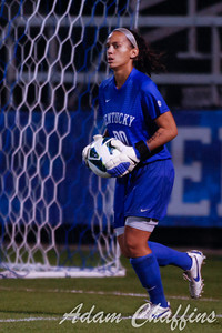 Sophomore Goalkeeper Kayla Price, during the first half of the University of Kentucky vs. Texas A&M Women's soccer game. Photo by: Adam Chaffins