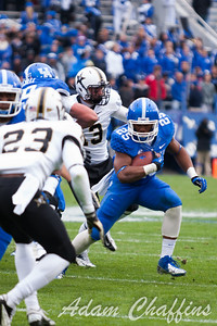 Jonathan George, junior touch back during the first half of the UK vs. Vanderbilt football game at Commonwealth Stadium, Photo by Adam Chaffins