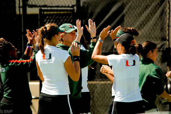 University of Miami Women's Tennis vs Clemson