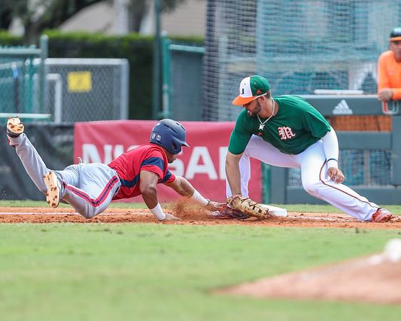2018 University of Miami Baseball Fall Game.
