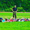 U.S. Marines came to Groton-Dunstable football's morning practice Saturday morning to teach student-athletes the importance of leadership and fitness. Members of the newly-formed cheer team were also present. Nashoba Valley Voice/Ed Niser