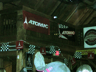 Atomic and SkiRacing magazine sponsored a fun party for retiring speed skiing star, Daron Rahlves