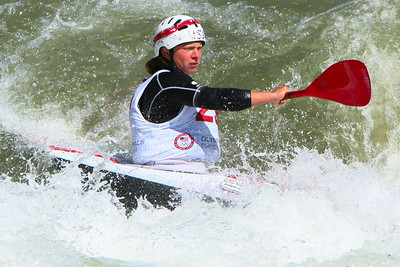 Kayaker, Caroline Queen at the 2012 U.S. Olympic Trials for Canoe Slalom and 2012 Canadian Olympic Trials