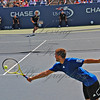 Roberdo, one of the best servers in the game, couldn't catch Youzhny with this down the middle serve.
