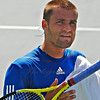 "The rugged face of Mikhail Youzhny (RUS) pronounced ""use-knee"" -- you will be hearing more about him."