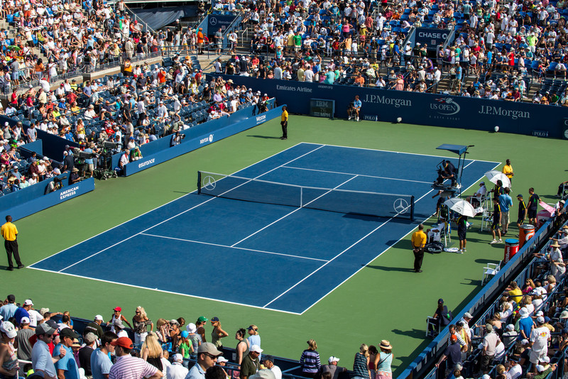 Changeover at Louis Armstrong Stadium at the 2012 US Open