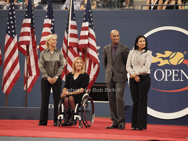 Martina Navratilova, Esther Vergeer, James Blake, Dori Samadzai-Bonner<br /> photo  by Rob Rich © 2010 robwayne1@aol.com 516-676-3939
