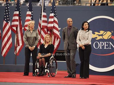 Martina Navratilova, Esther Vergeer, James Blake, Dori Samadzai-Bonner photo  by Rob Rich © 2010 robwayne1@aol.com 516-676-3939