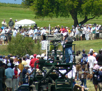 NBC cameraman at Hole 16 US Open golf 080612 P1440210