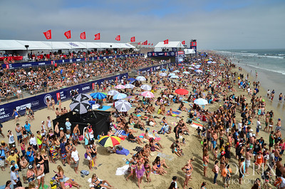 Grandstand view of the 2013 Vans US Open of Surfing