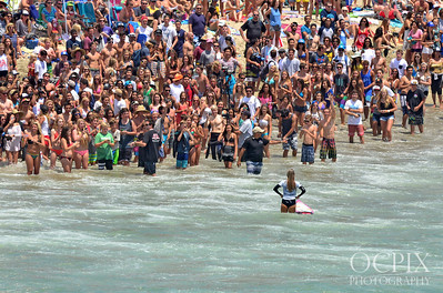 Alana Blanchard fans greet her at the US Open of Surfing